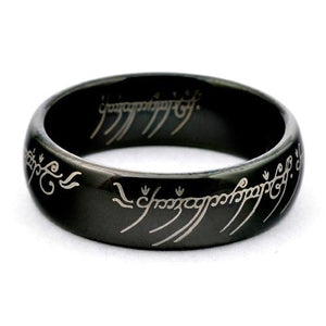 LOTR  Black Tungsten Lord Of The Rings Wedding Band - Gaboni Jewelers