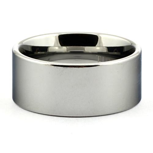 LULO 10mm Men's Tungsten Ring for Him Polished Shiny Pipe Cut - Gaboni Jewelers