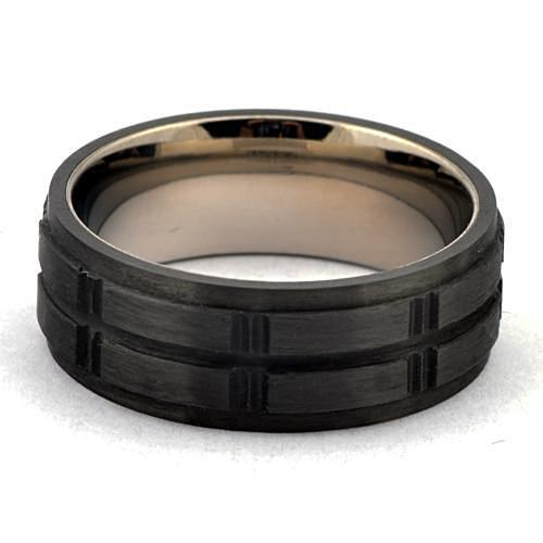 METTO Forged Carbon Wedding Band for Men - Gaboni Jewelers