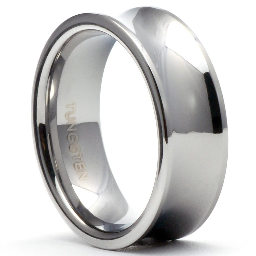 MOLIN Concave Tungsten Ring Unisex Infinity Wedding Band - Gaboni Jewelers