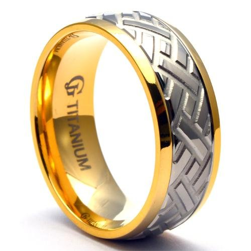 NEPTO Titanium Car Tire Wedding Ring for Men - Gaboni Jewelers