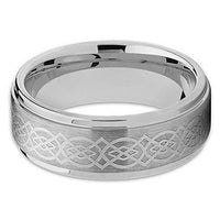 PATOR Knot Tungsten Carbide Celtic Ring Polished Step Edges - Gaboni Jewelers