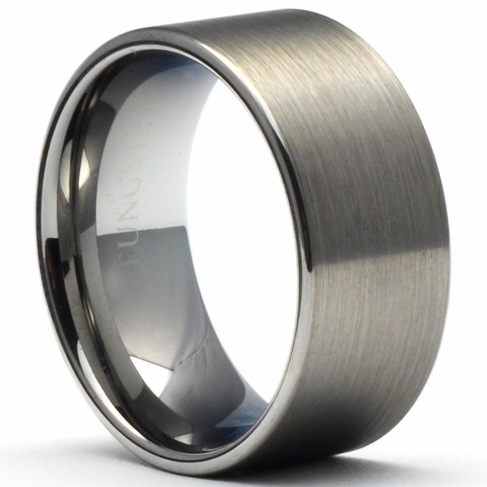 PIPES 10mm Tungsten Carbide Ring Brushed Pipe Cut - Gaboni Jewelers