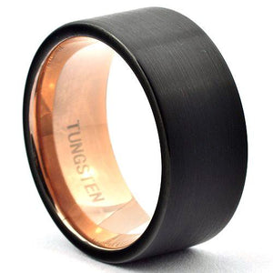 VOLTAN 10mm Matte Black Mens Wedding Ring in Tungsten - Gaboni Jewelers