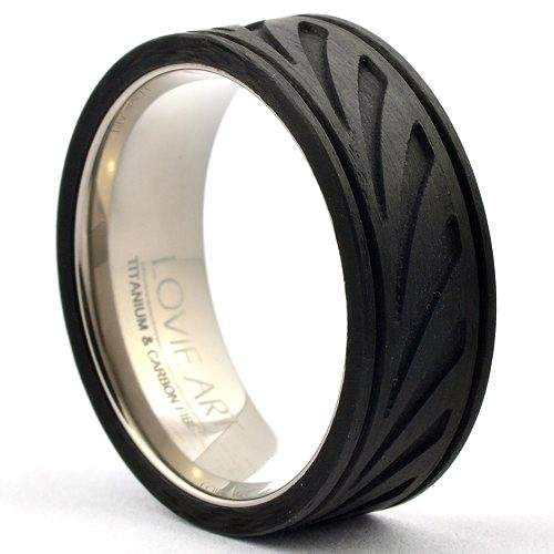 ZYTOR Forged Carbon Wedding Band Milled Finish - Gaboni Jewelers