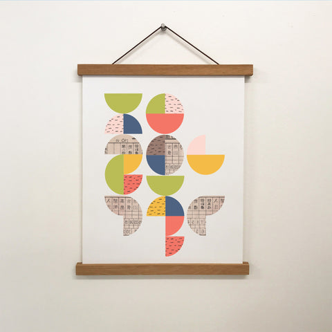 'Pattern Pop' Vintage Circles Print