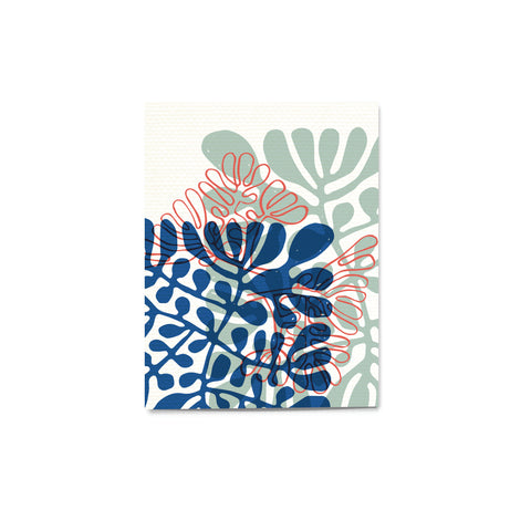 'Pattern Pop' Coral Card