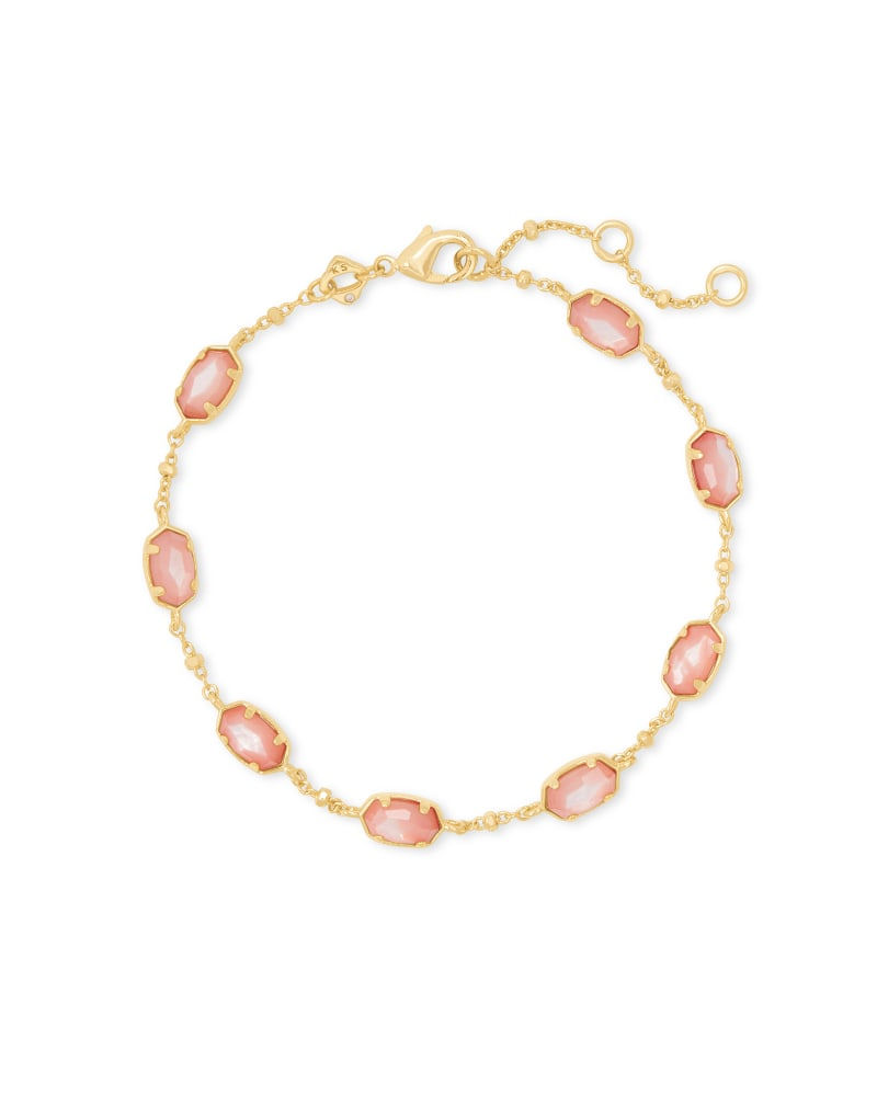 Kendra Scott Emilie Chain Bracelet in Rose Mother-of-Pearl