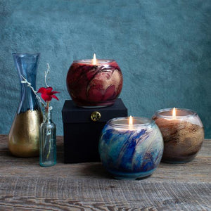 Northern Lights Esque Nouveau Candle- Peach Nectarine