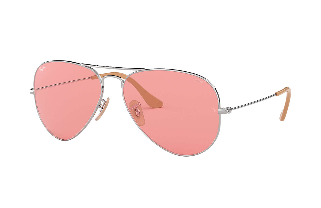 Ray-Ban Aviator Evolve- Silver/Pink Photocromic