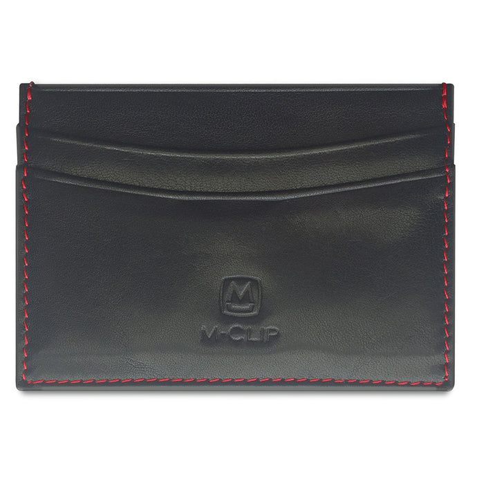 M-CLIP BLACK HORIZONTAL LEATHER RFID CASE