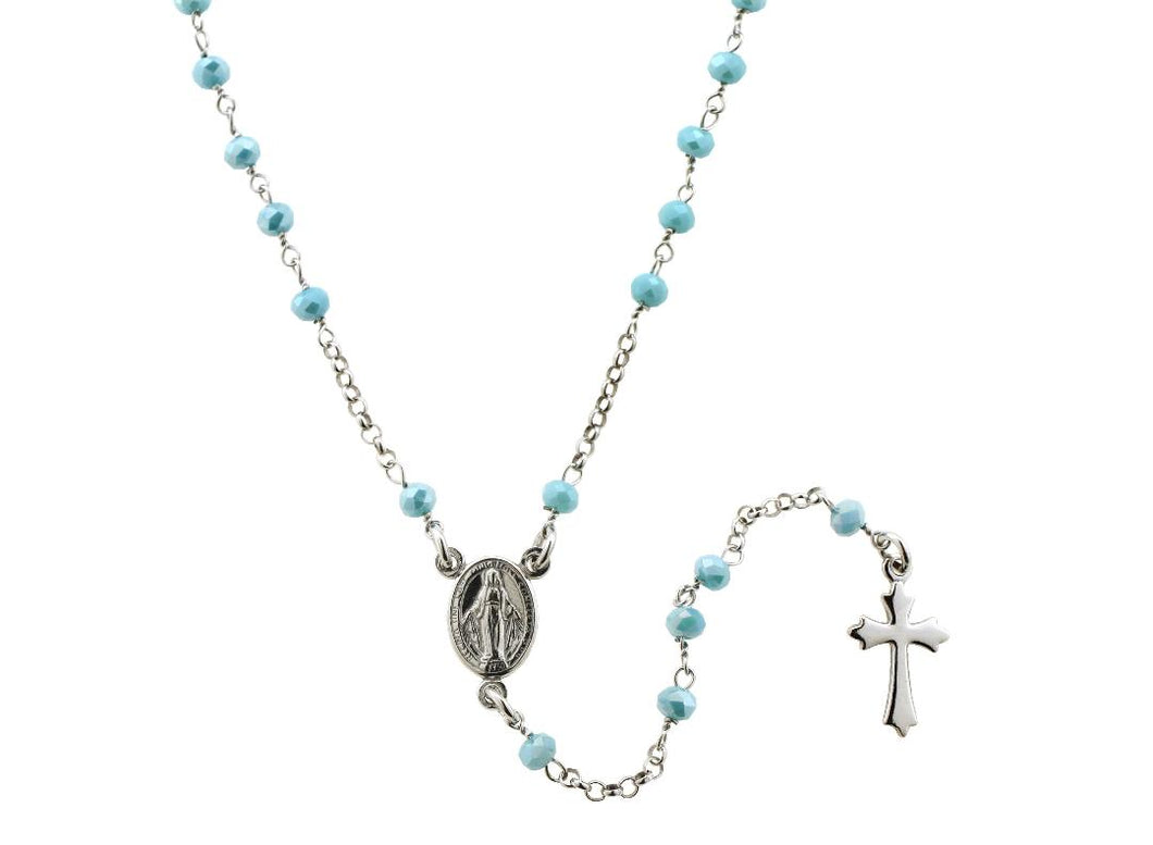 .925 Silver Rosary Necklace