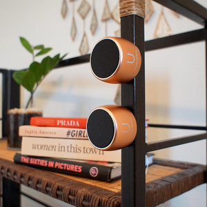 U PRO SPEAKERS ROSE GOLD - 2 PAIRED SPEAKERS WITH MAGNETIC BASE