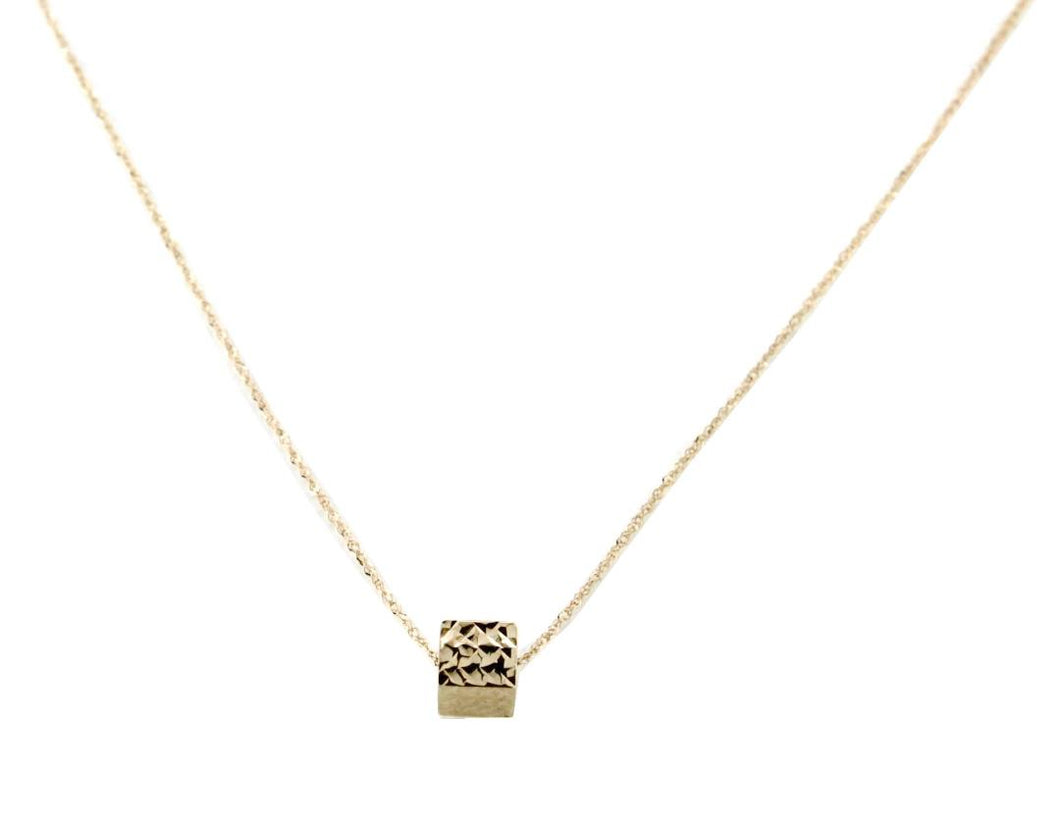 Gold Cube Necklace