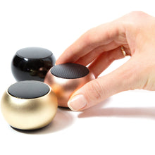 Load image into Gallery viewer, U MINI SPEAKER GOLD - EXCEPTIONAL SOUND, MAGNETIC BASE AND PAIRING OPTION FOR STEREO!