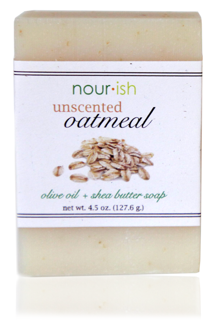 UNSCENTED OATMEAL OLIVE OIL AND SHEA BUTTER SOAP