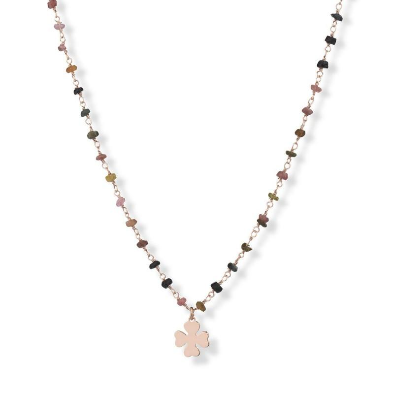 AMEN Hard Stones Necklace 70 cm