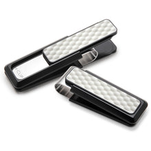 Load image into Gallery viewer, M-CLIP BLACK ANODIZED WHITE GOLF BALL MONEY CLIP