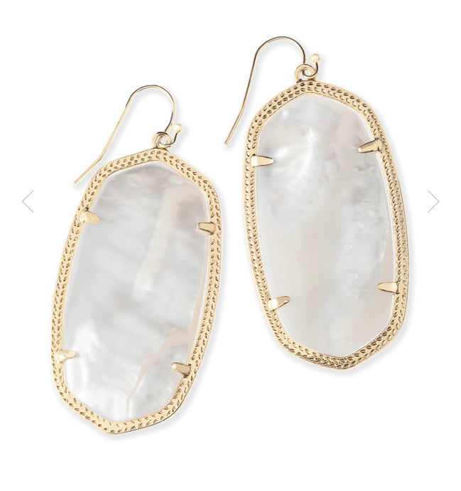 Kendra Scott- Danielle Statement Earring Gold/Ivory Mother of Pearl