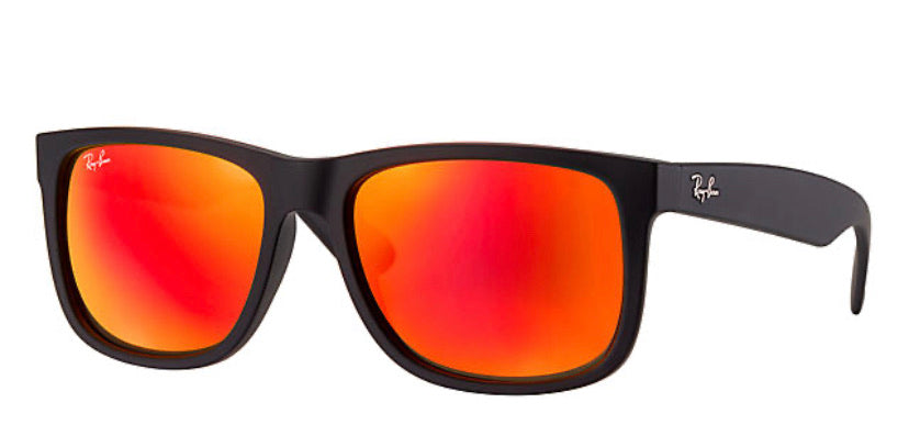 Ray-Ban RB4165 Justin Black/ Red Mirror