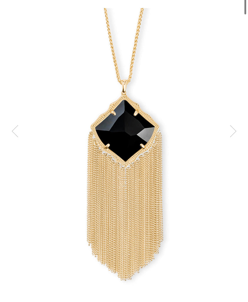 Kendra Scott- Kingston Necklace Gold/Black Opaque