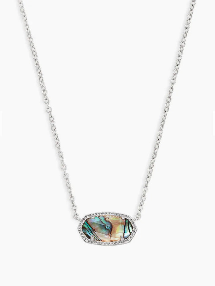 Kendra Scott- Elisa Necklace in Rhodium/Abalone Shell