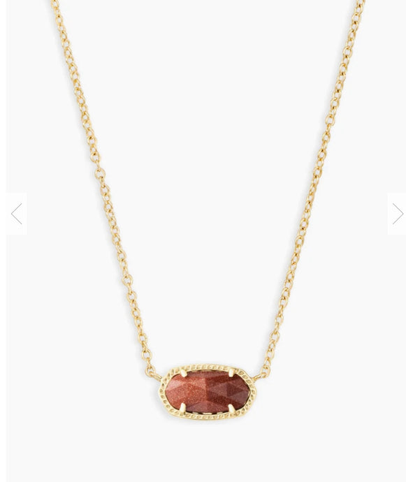 Kendra Scott- Elisa Gold Necklace in Gold/Goldstone Glass