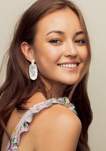 Kendra Scott Aragon Earrings in Gold/Abalone Shell