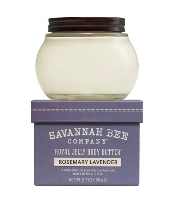 Savannah Bee Royal Jelly Body Butter- Rosemary Lavender