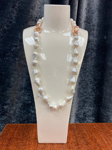 Luka- Baroque Pearl Necklace/Earring Set