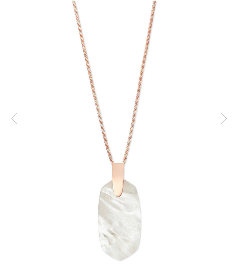 Kendra Scott- Inez Necklace Rose Gold/Ivory Mother of Pearl