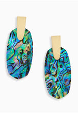 Load image into Gallery viewer, Kendra Scott Aragon Earrings in Gold/Abalone Shell
