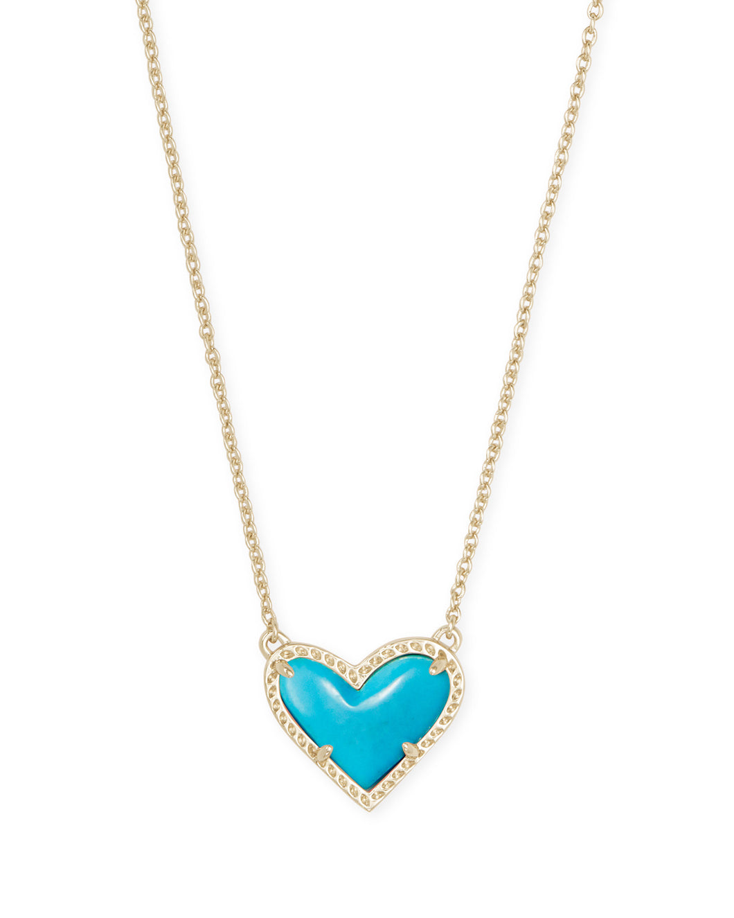 Kendra Scott Ari Heart Short Pendant in Turquoise