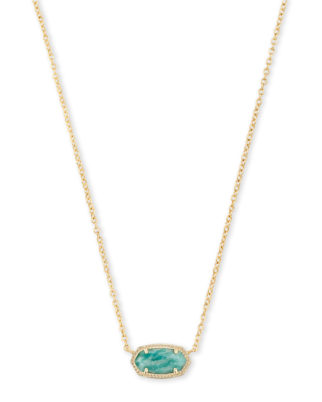 Kendra Scott Pendant Necklace In Dark Teal Amazonite