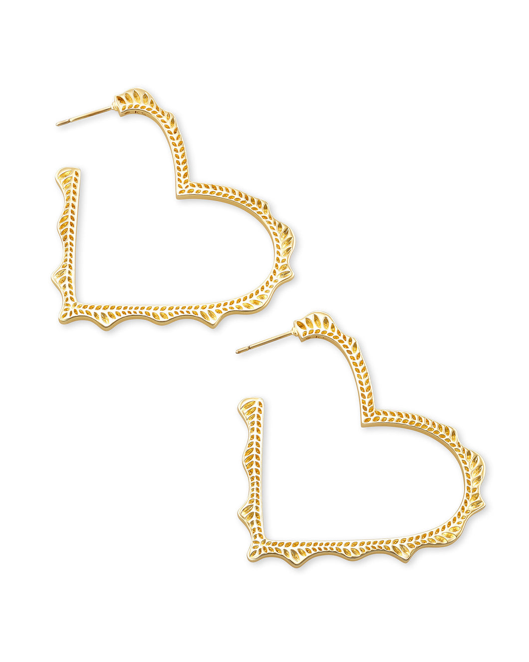 Kendra Scott Sophee Heart Hoop Earring in Gold