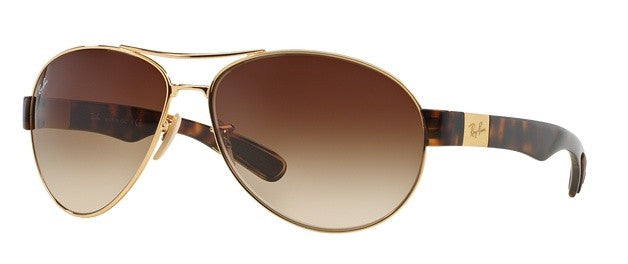 Ray-Ban Arista in Gold with Brown Gradient Lens