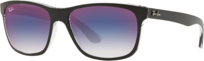 Ray-Ban RB4181 in Black on Top Transparent