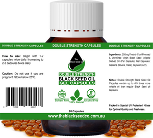 Double Strength Black Seed Oil Capsules (90 Capsules)