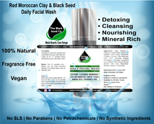 The Black Seed Co, Red Moroccan Clay & Black Seed Oil Face Wash, Black Seed oil Australia