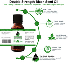 Load image into Gallery viewer, Double Strength Black Seed Oil
