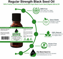 Load image into Gallery viewer, The Black Seed Co, Regular Strength Black Seed Oil, Black Seed oil Australia