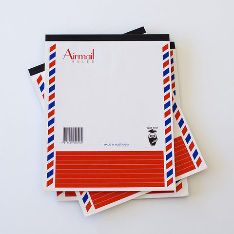 Australian Airmail Notepad with Lined Paper | RAD AND HUNGRY