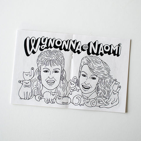 Betty Turbo Country Cat Lady Coloring Book