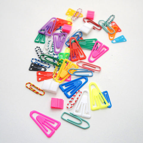 Plastic Paper Clip Mix / RAD AND HUNGRY