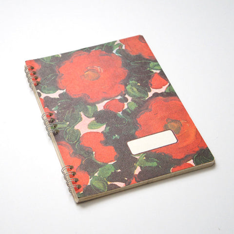 60's Italian Spiral-Bound Notebooks - Floral