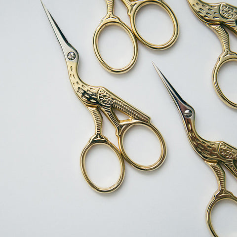 Ernest Wright & Son Stork Scissors – Gold / RAD AND HUNGRY