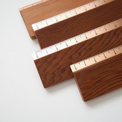 Handmade Wood & Copper Ruler