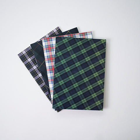 Scottish Tartan Sketchbook with Blank Paper | RAD AND HUNGRY