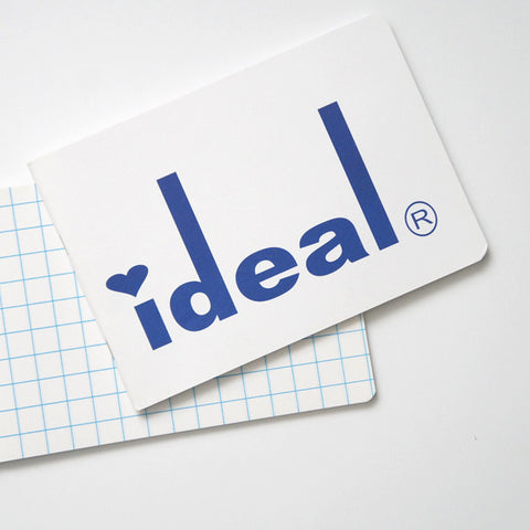 White and Blue Ideal Notebooks with Graph Paper | RAD AND HUNGRY