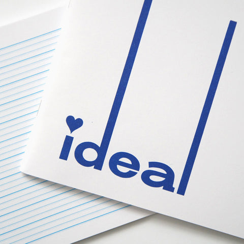 White and Blue Ideal Notebooks with Lined Paper, Slim Ruled | RAD AND HUNGRY